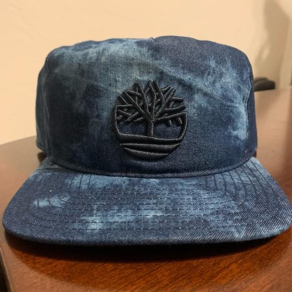 NWOT Timberland Acid Washed Denim Snapback Hat